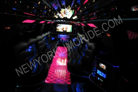 Cadillac Escalade limousine for sweet sixteen