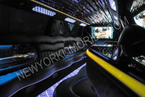 Cadillac Escalade limo in NYC