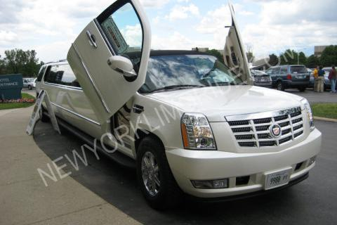Cadillac Escalade limousine in New York