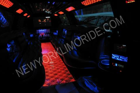 Cadillac Escalade limo for proms
